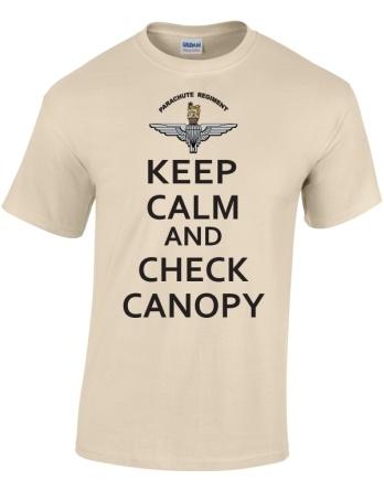 Parachute Regiment Keep Calm and Check Canopy T-Shirt Print £12.50