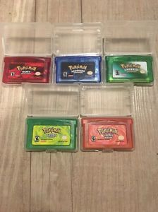 Pokemon Game Lot: Fire Red, Leaf Green, Emerald, Ruby, Sapphire For GBA  | eBay | @giftryapp