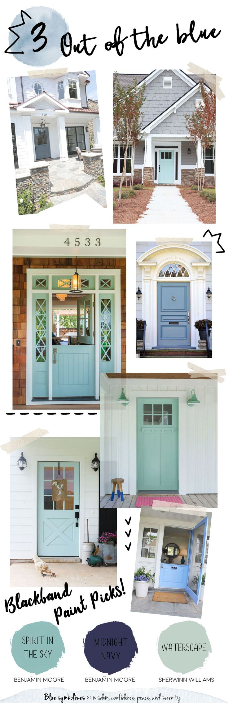 Really pleased with the way the painted doors look it was quick - Colorful Front Doors