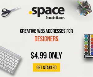 Get your .space domain name now!