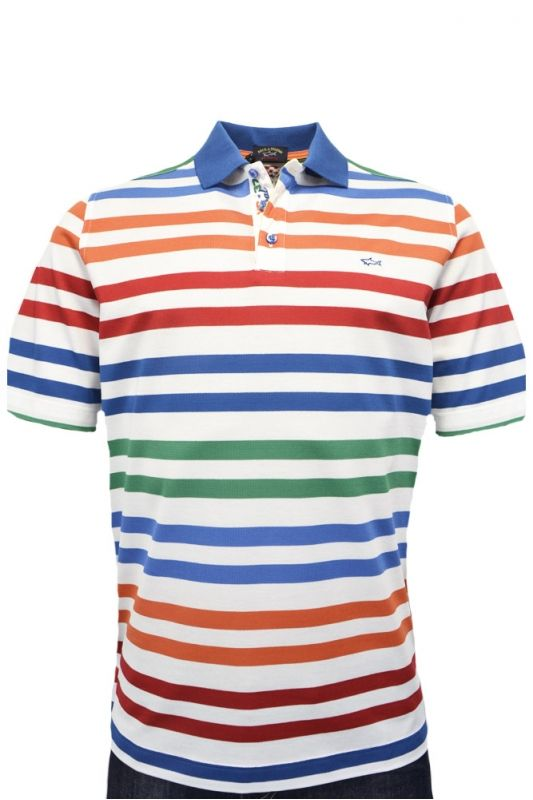 Paul & Shark Paul And Shark Striped Polo Shirt Multi Stripe