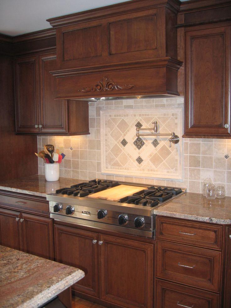 32 best images about kitchen design on pinterest the for Granite backsplash with tile above