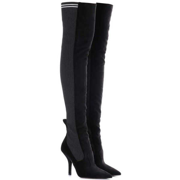 Rockoko Knee Boots1 565� Velvet Over The Fendi liked D9IHWE2
