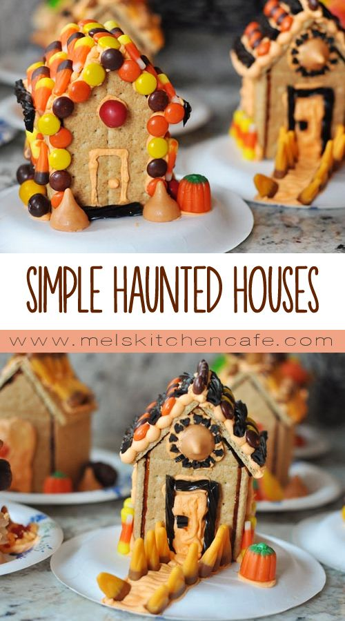 Simple Homemade Haunted Halloween Houses. A unique and fun October activity!