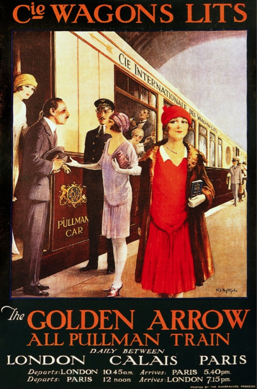 The Golden Arrow - all Pullman Trains daily between London Calais Paris.