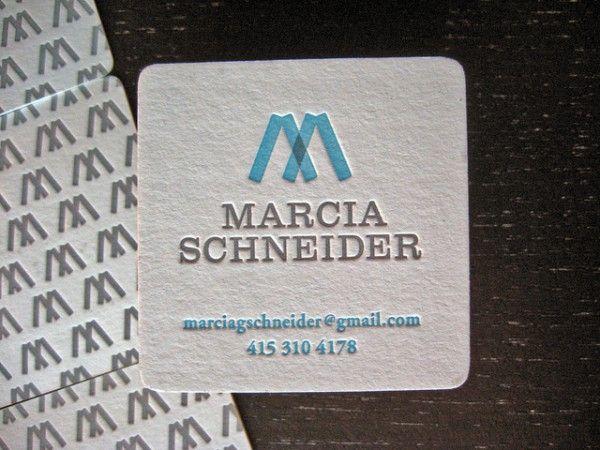 Marcia Schneider - die-cut business cards