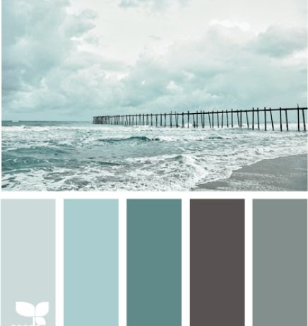 Considering this color scheme for my bathroom. I am doing a beach theme for it  Beach Color Palettes from the Shore