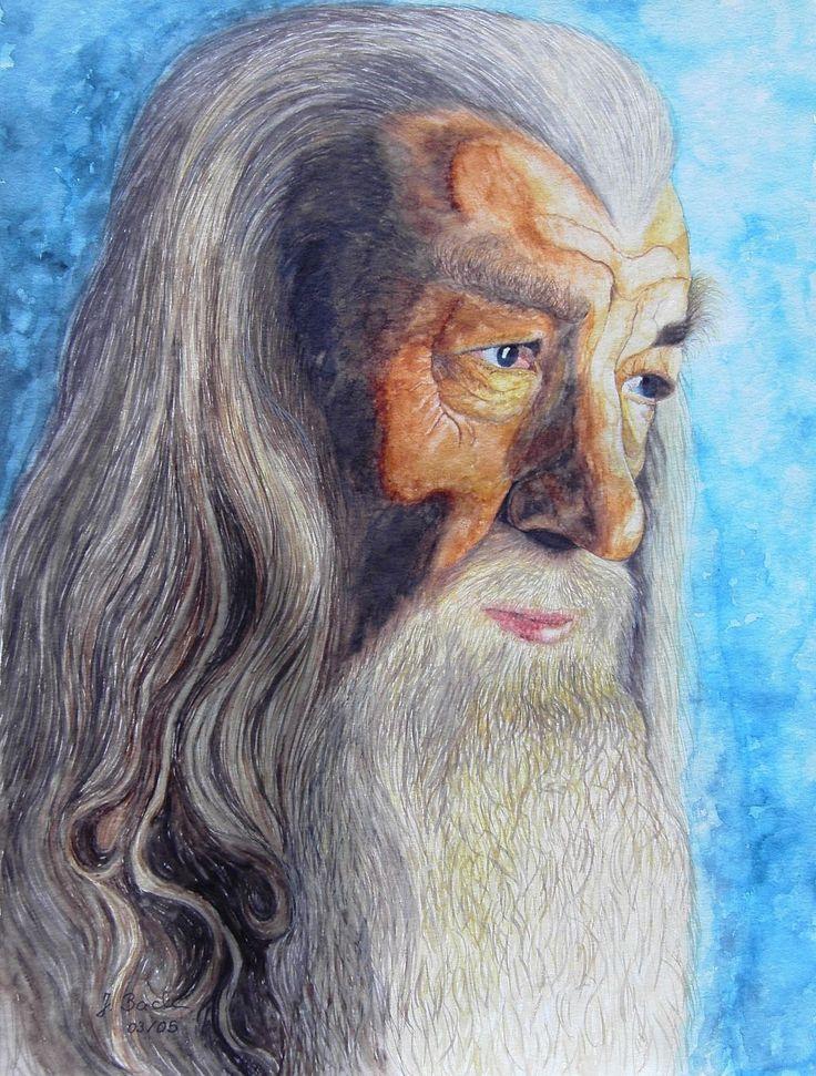 Gandalf der Graue 3 gespielt von Ian Mckellen in Herr der Ringe 1 - Jutta Bachmann