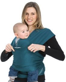 How to: the MOBY Wrap Hug Hold, One of our favorite ways to wear the MOBY Wrap. Use this hold when baby is fully stretching legs (3-4 months). #mobywrap #babywearing