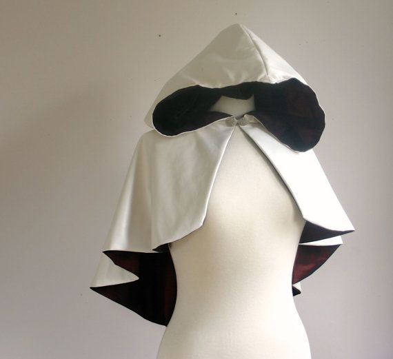 Assassin's Style Hooded Cape white faux leather by lorigami