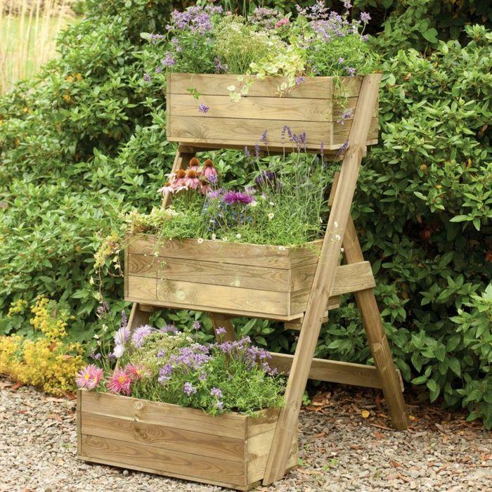 Hochbeete Ideen Fur Ihre Gartengestaltung Im Fruhling Shabby Chic Garten Shabby Chic Malerei Shabby Chic Tapete