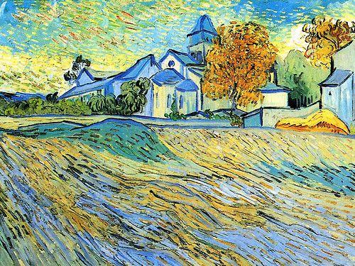 View of the Church of Saint Paul de Mausole, Vincent van Gogh  1889