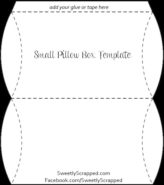 small pillow box template