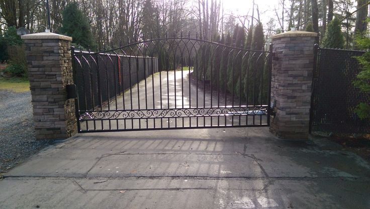 73 best custom residential iron gates by automated gates for Driveway gate lock