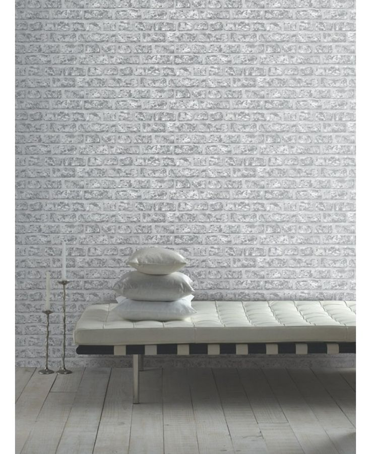 Stunningly realistic Rustic Brick Wallpaper by Arthouse has a weathered and rustic feel for an on trend, contemporary loft look. The photographic style design is printed on to high quality paper and the stunning detail makes it appear textured when it is in fact completely smooth