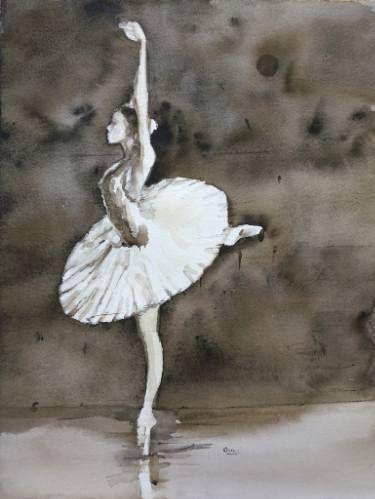 "Saatchi Art Artist OSCAR ALVAREZ; Painting, ""SB-14"" #art  #SaatchiArt  #LoveArt #watercolors"