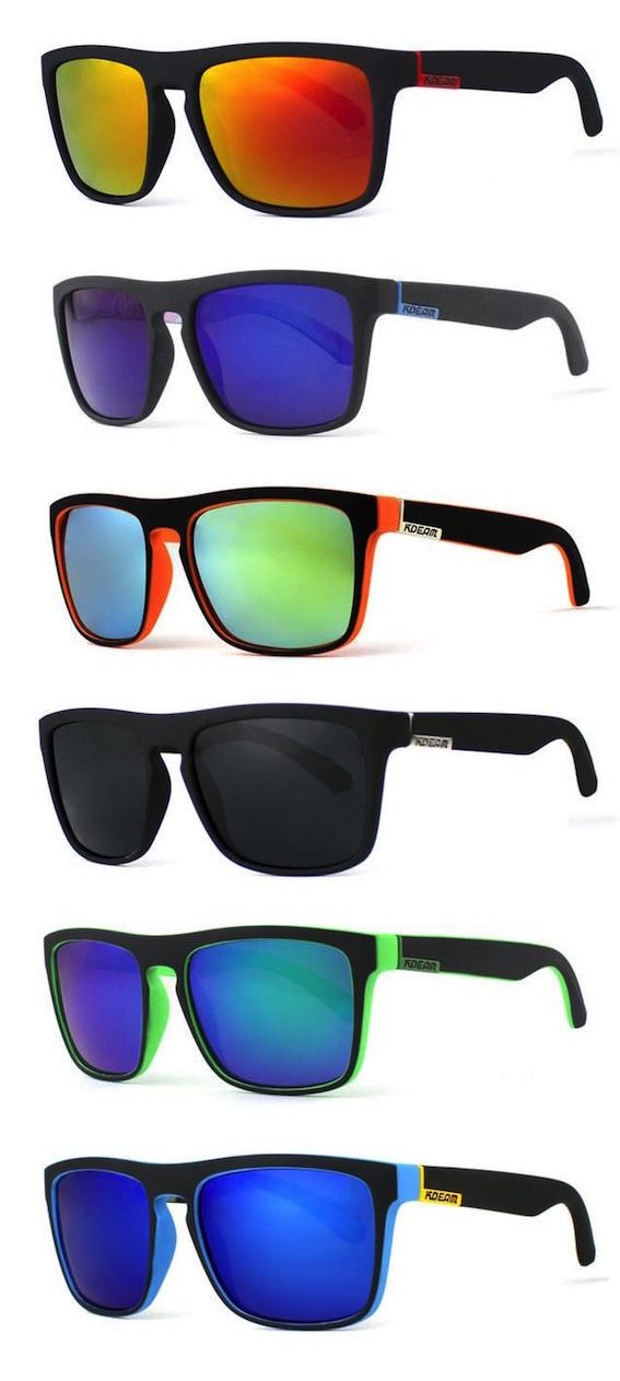 Polarized Square Sunglasses With Box