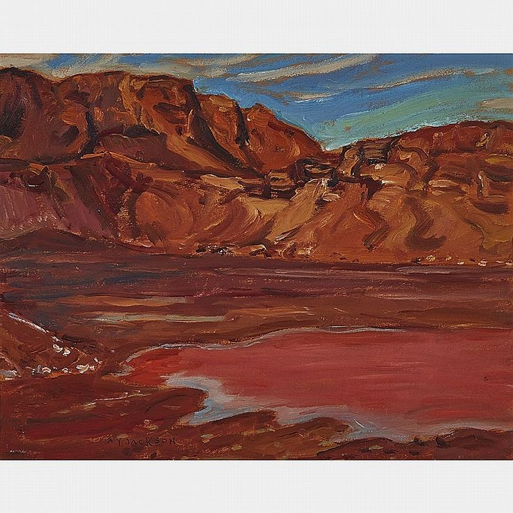 A.Y. Jackson - Depleted Iron Mine Labrador 10.5 x 13.5 Oil on panel