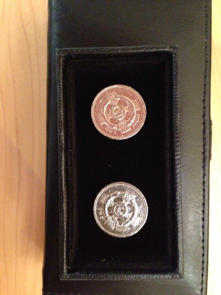 British pound cufflinks