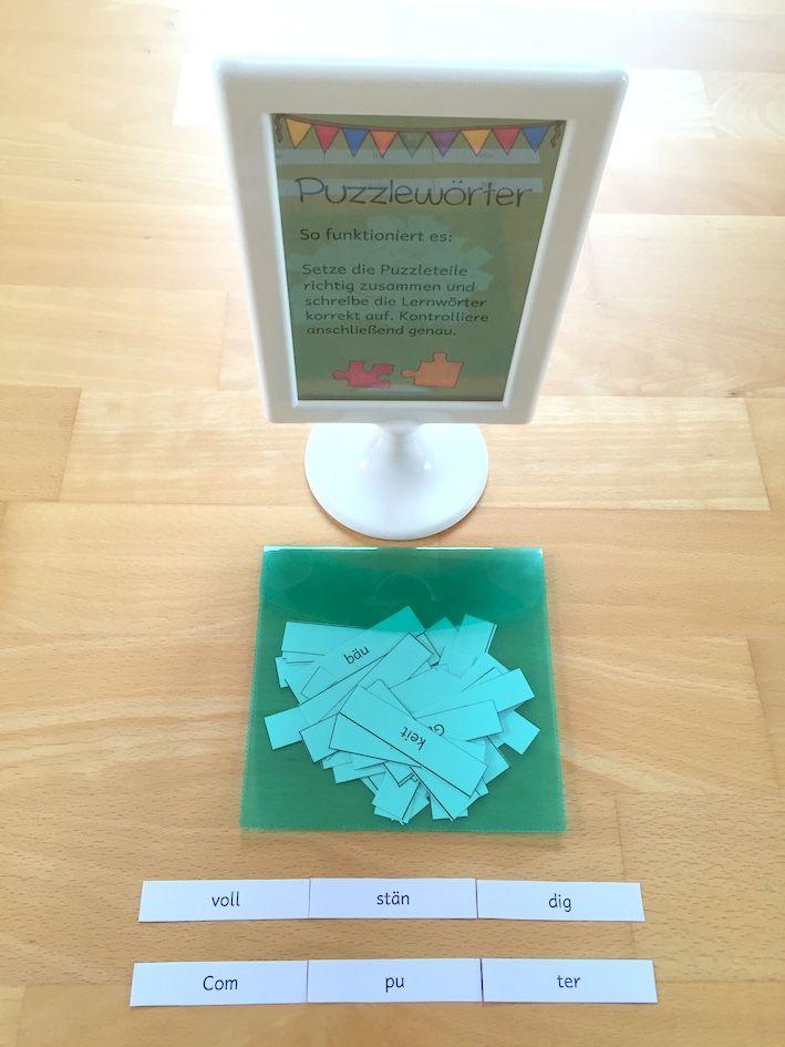 Materialwiese: Lernwörter