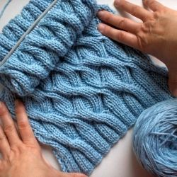 Baby Blue Cable Scarf