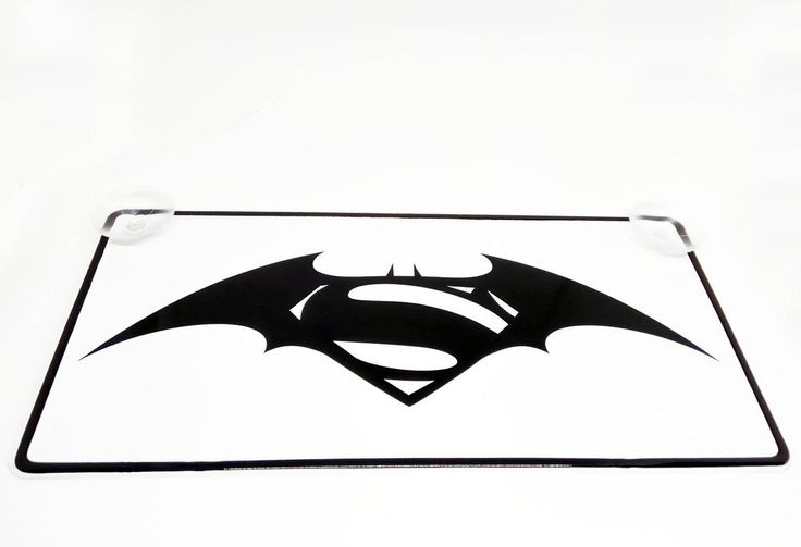 Batman v Superman Dawn of Justice Logo on Vehicle registration plate New