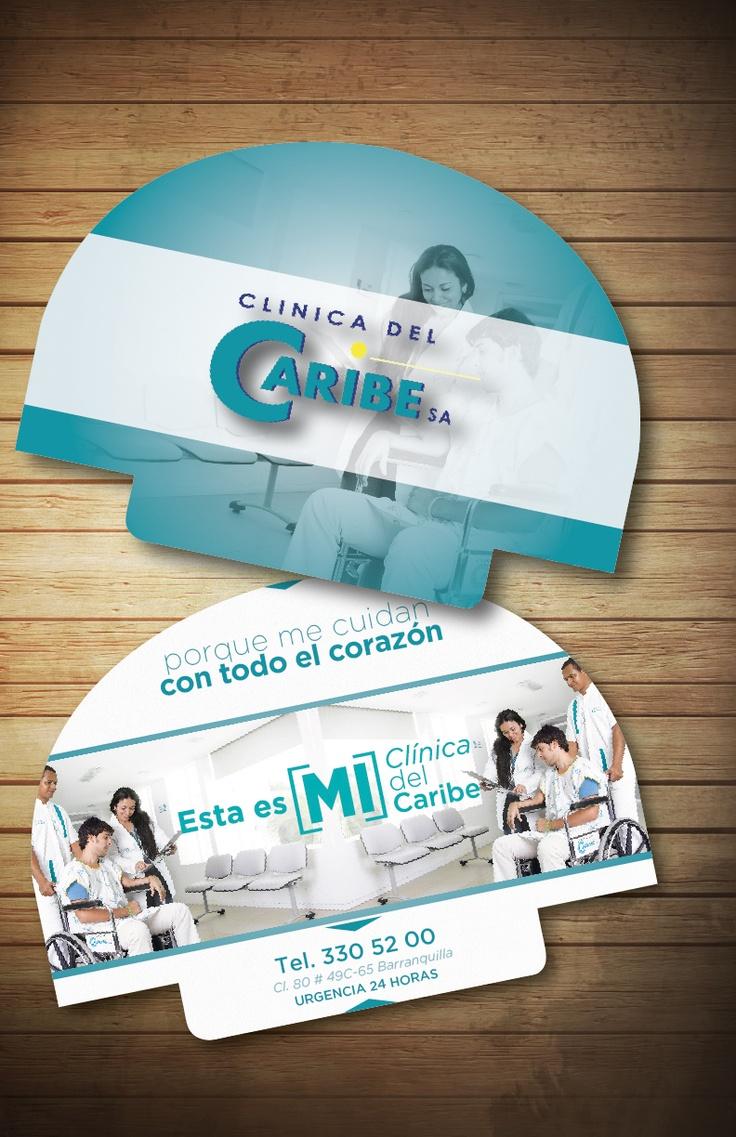 Abanicos de carnaval para la Clinica del caribe en Barranquilla, Colombia · Diseñados por Lemon | Agencia de Medios y Publicidad · @agencialemon · www.agencialemon.com