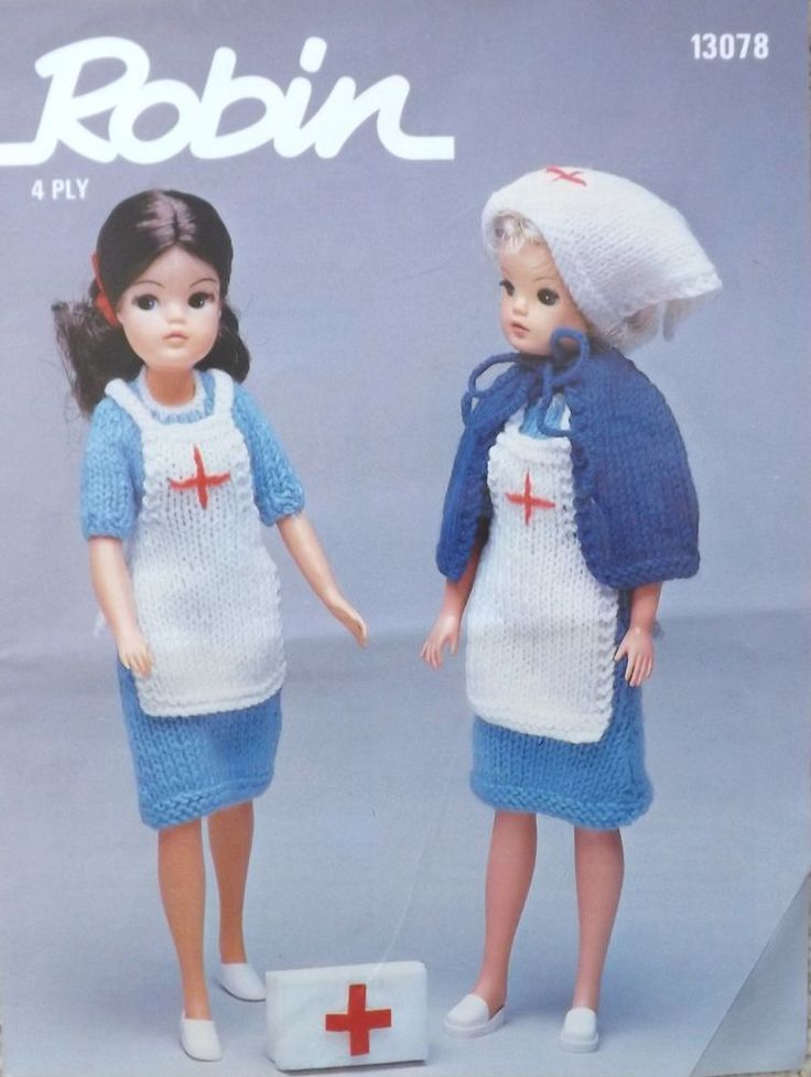 Knitting Pattern For Nurse Doll : 74 best images about Things I Love on Pinterest French horn, Robins and War...