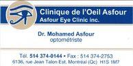 Clinique de l'Oeil Asfour - Services d'optométrie et de laboratoire, lunetterie et montures.