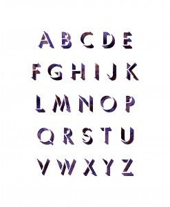 Purple Painted Alphabet