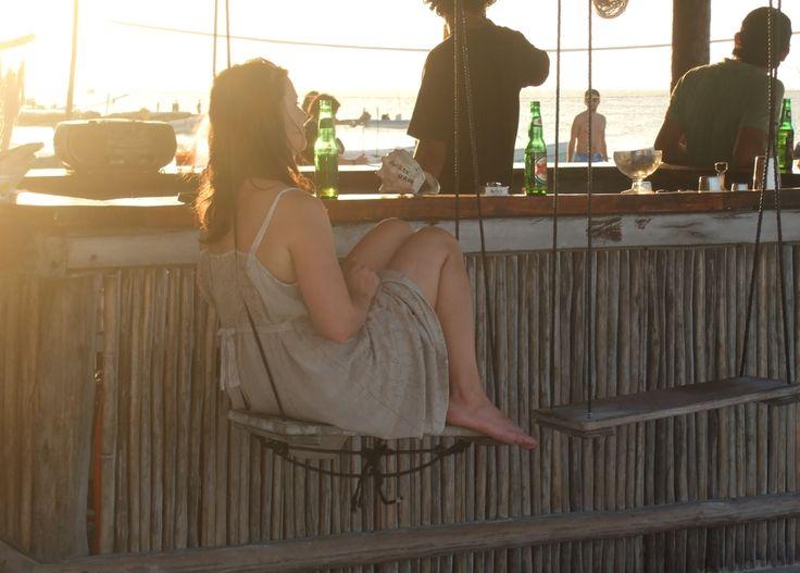 Strandbarsgunga på Isla Holbox i Mexiko