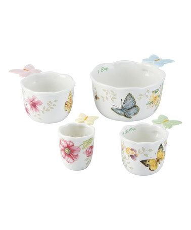 This Butterfly Meadow Measuring Cup Set is perfect! #zulilyfinds