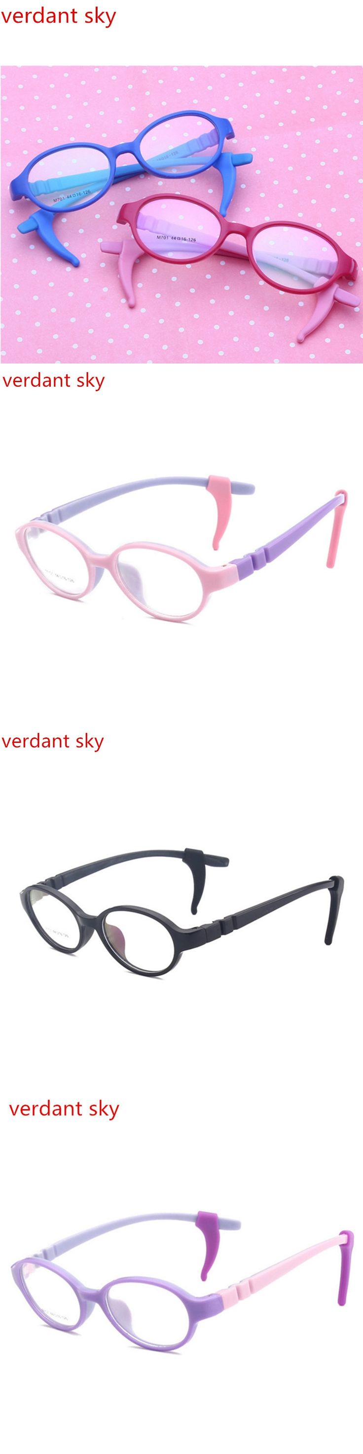 2017 Retro Silicone Children Clear Glasses Girls Boys Flexible Eyewear Frames Kids Glasses Frames Optical Spectacle Frames Child