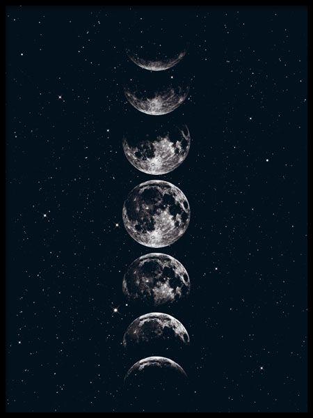 Tafel in dunklem Design mit Monden