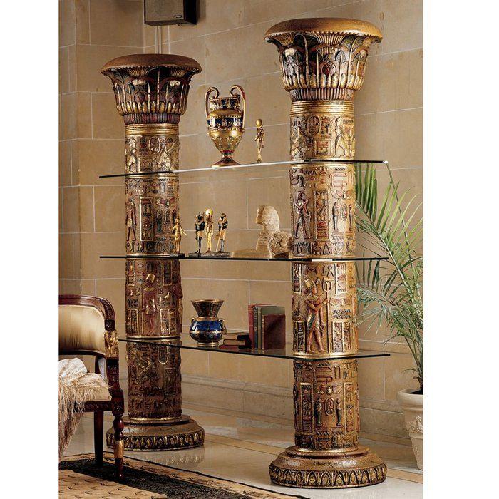 Egyptian Furniture: Egyptian Etagere Bookcase