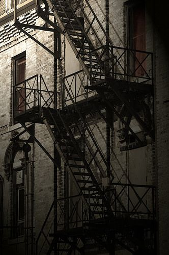 Fire Escape: Huether Hotel | Flickr - Photo Sharing!