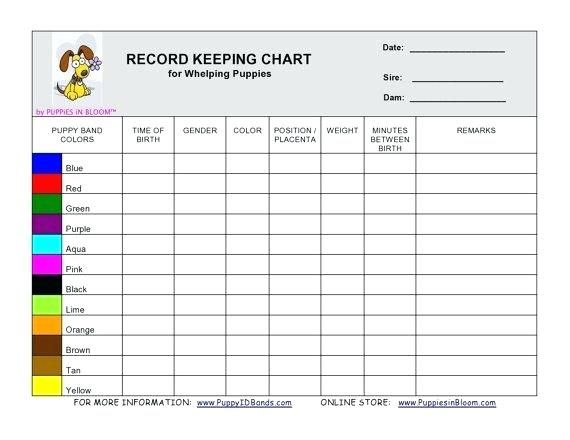 Puppy Whelping Weight Chart Record Keeping Charts More Birth