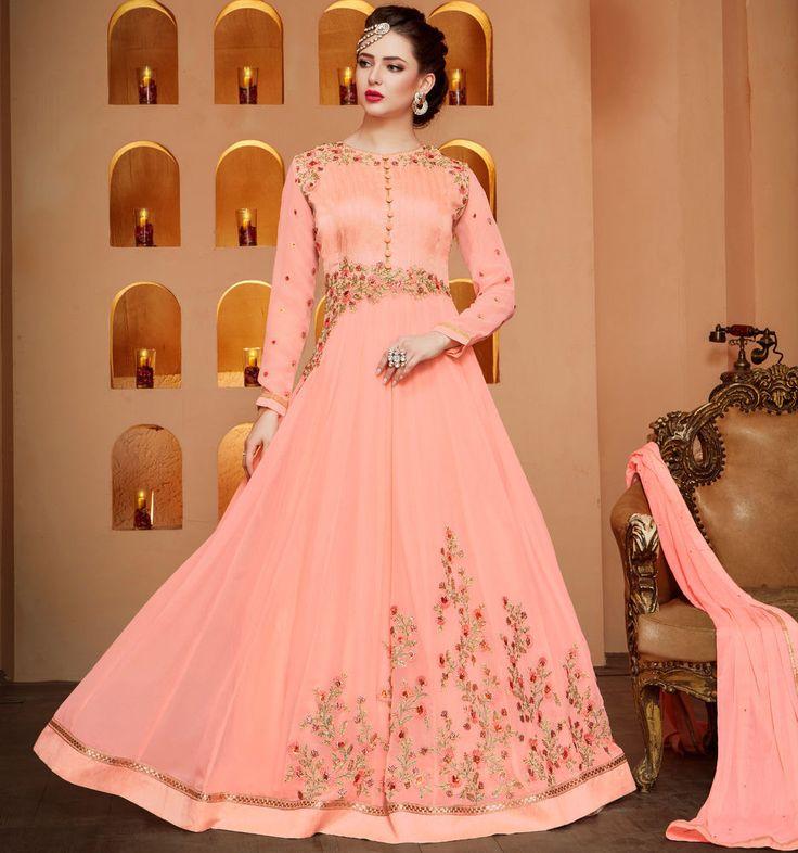 Designer Anarkali Pakistani Salwar Kameez Bollywood Indian Party Fancy M4083 #NA #SalwarKameez