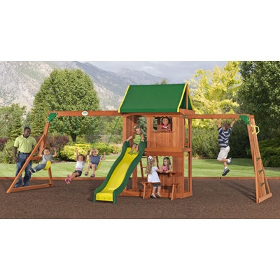 Adventure Playsets Lexington Swing Set with Extra Wide Fort $599.99Grandbaby Ideas, Swing Sets, Play Sets, Adventure Playset, Backyards Plays, Dreams House, Plays Sets, Playset Lexington, Swings Sets