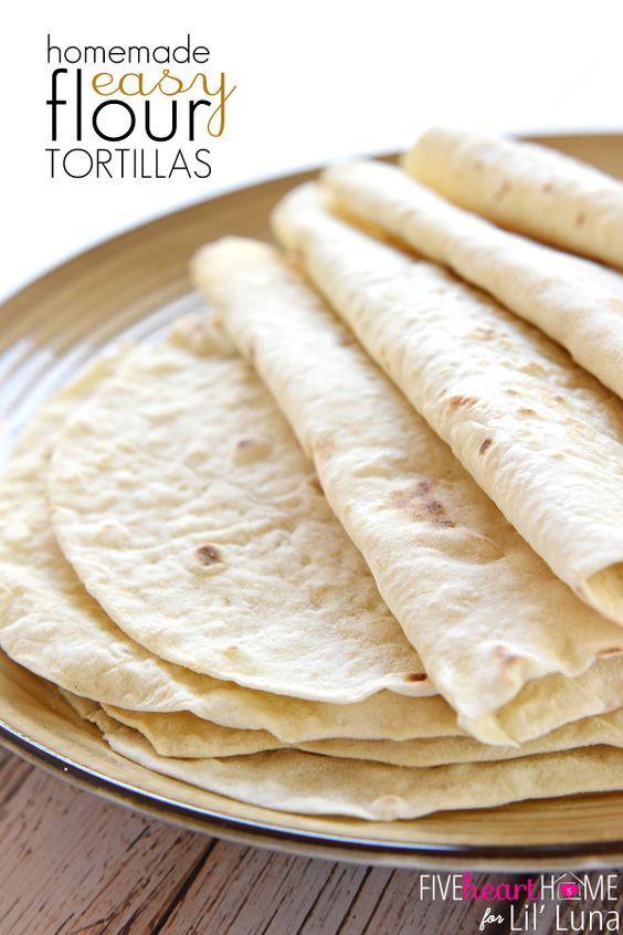 Easy Homemade Flour Tortillas | FiveHeartHome.com for LilLuna.com