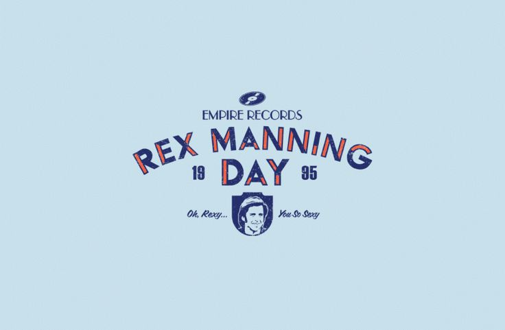 Rex Manning Day tee shirt. I squealed when I saw this so bought it straight away. Love love LOVE Empire Records!!!