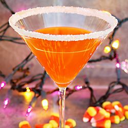 Candy Corn Martini. Tastes like Halloween in a glass!