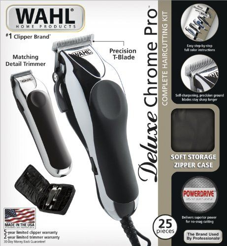 Wahl 79524-5201 Chrome Pro 25 Piece Complete Haircutting Kit | Multi City Health List Price: $68.99 Discount: $39.76 Sale Price: $29.23