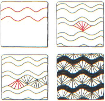 Zentangle Patterns Step by Step | ... zentangle com zentangle is a registered trademark of zentangle inc