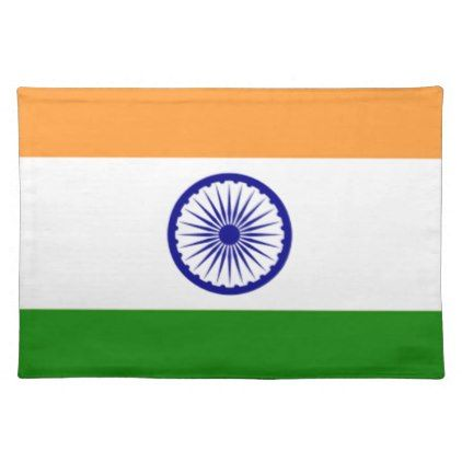 """Good color Indian flag """"Tiranga"""" Placemat - good gifts special unique customize style"""