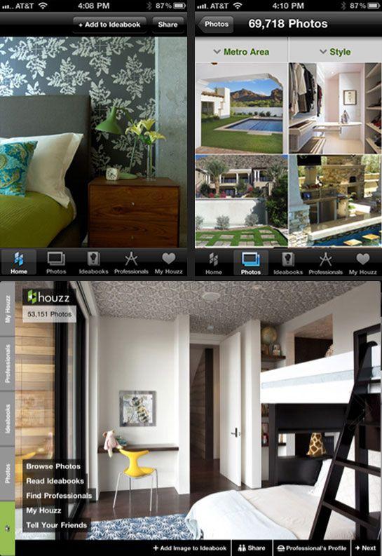 """Um Simulador para chamar de Meu!    """"Houzz    Uma enciclopédia de idéias para decorar a casa, o Houzz traz mais de 150 mil fotos com sugestões para todos os tipos de ambientes, disponibiliza o compartilhamento dos achados em redes sociais, cria um """"livro"""" com seus ambientes favoritos, e ainda visualiza projetos de grandes arquitetos e designers. Disponível para iPod, iPhone, iPad e Touch."""""""
