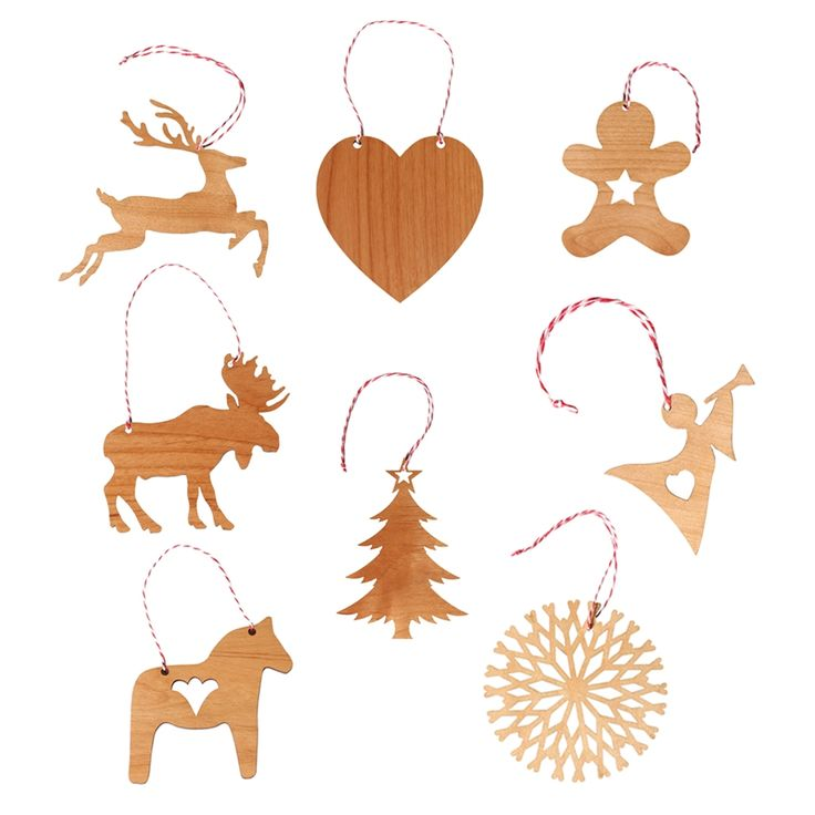 Scandinavian large Christmas decorations 4 pack - Christmas in #HTFSTYLE