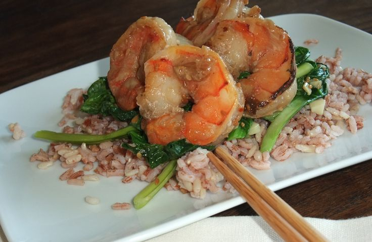 Asian Honey and Lime Prawns with Madagascar Pink Rice