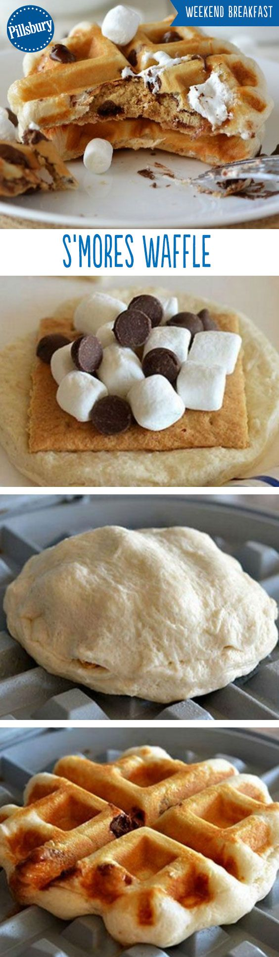 The brunch game has been changed. S'mores Waffles is the delicious breakfast you never knew you needed. Made with biscuits, graham crackers, marshmallows and chocolate chips your entire family will want more!