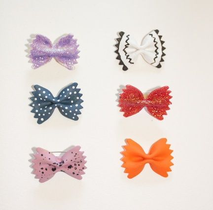 crochet bow tie necklace - Google Search